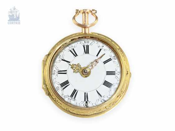 Pocket watch: Golden double-enclosure-repair, replace-Spindeluhr with hour Repetition, Charles Cabrier of London, around 1760 - photo 5