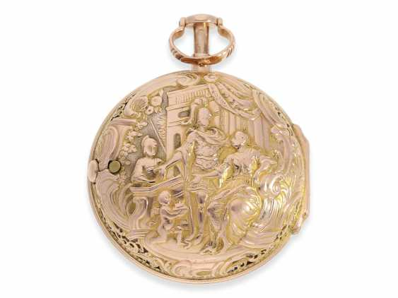 Pocket watch: rare and exceptionally beautiful Bavarian Bicolour repair, replace, double-housing Spindeluhr with Repetition, Jacob rotten fields Öttingen No. 680, CA. 1760 - photo 1