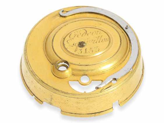 Pocket watch: extremely magnificent 18K dual enclosure-repair, replace-Spindeluhr with percussion, fantastic housing quality, Gédéon Esquivillon Genève, No. 3153, CA. 1750 - photo 5