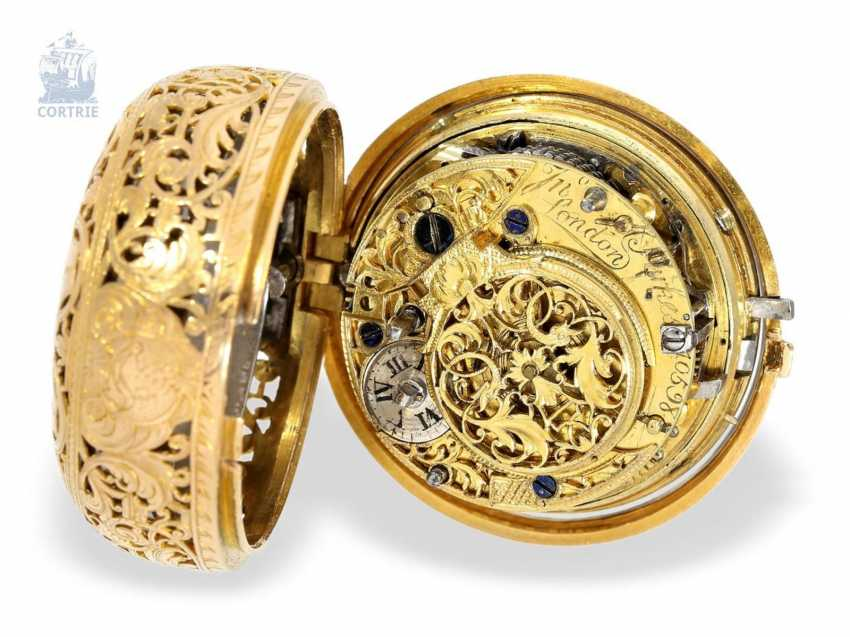 Pocket watch: exquisite, early repair, replace, double-housing Spindeluhr with Repetition, John Parke(s) London (1724-CA. 1744) - photo 7