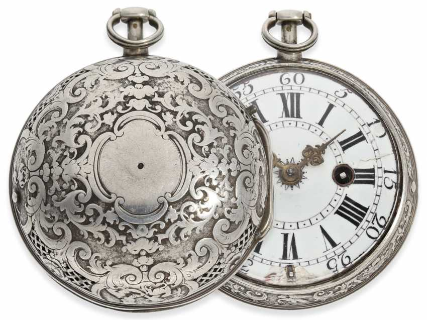 Pocket watch: rare, early Oignon with unusual Repetition with only a Hammer, De Covigny Paris around 1710 - photo 1
