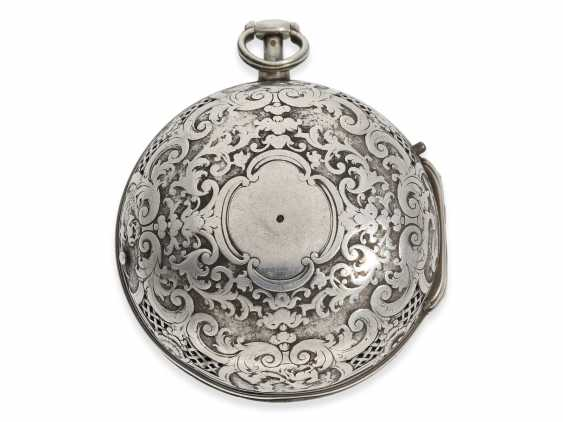 Pocket watch: rare, early Oignon with unusual Repetition with only a Hammer, De Covigny Paris around 1710 - photo 2