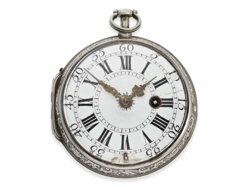 Pocket watch: rare, early Oignon with unusual Repetition with only a Hammer, De Covigny Paris around 1710 - photo 5