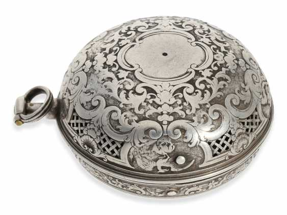 Pocket watch: rare, early Oignon with unusual Repetition with only a Hammer, De Covigny Paris around 1710 - photo 6