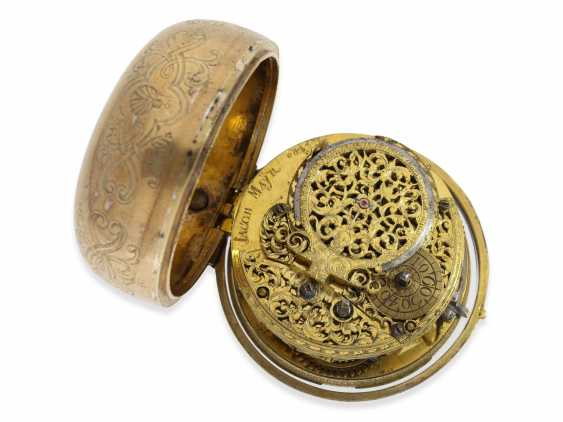 Pocket watch: rare, large German pocket watch, very well-known watchmakers, Jacob Mayr, Augsburg, No. 682, recorded 1672-1714 - photo 3