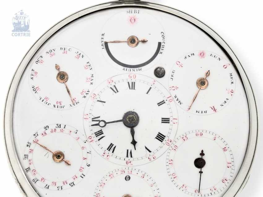 Pocket watch: large astronomical Spindeluhr with 7 complications, Switzerland, around 1800 - photo 1