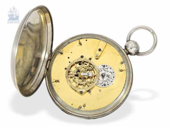 Pocket watch: large astronomical Spindeluhr with 7 complications, Switzerland, around 1800 - photo 3