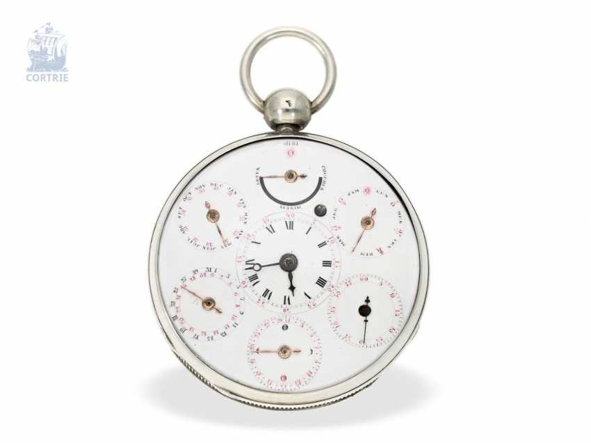 Pocket watch: large astronomical Spindeluhr with 7 complications, Switzerland, around 1800 - photo 4