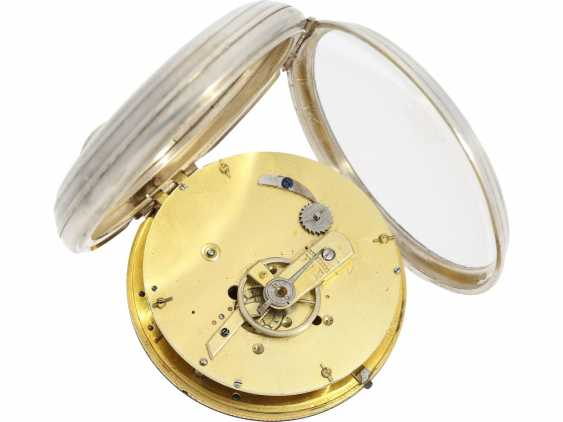"""Pocket watch: technical rarity, one of the earliest known astronomical pocket watch with a genuine perpetual calendar """"Quantième Bisextile"""", France, around 1800 - photo 3"""