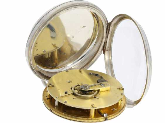 """Pocket watch: technical rarity, one of the earliest known astronomical pocket watch with a genuine perpetual calendar """"Quantième Bisextile"""", France, around 1800 - photo 4"""