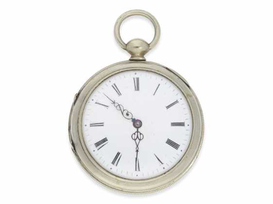 Pocket watch: technically highly interesting and extremely rare pocket watch with early automatic oscillating weight of the Elevator, Joseph, painter, Staufen, CA. 1810 - photo 4