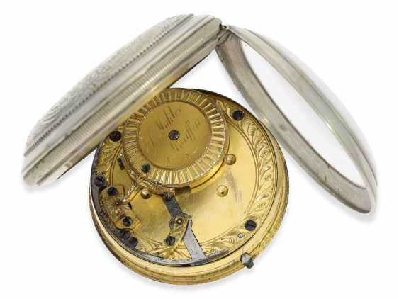 Pocket watch: technically highly interesting and extremely rare pocket watch with early automatic oscillating weight of the Elevator, Joseph, painter, Staufen, CA. 1810 - photo 2
