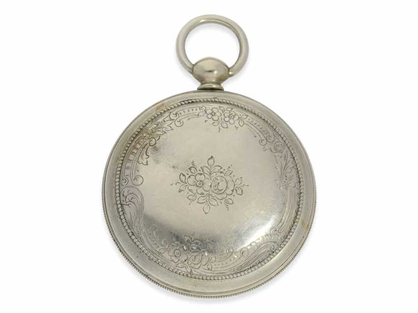 Pocket watch: technically highly interesting and extremely rare pocket watch with early automatic oscillating weight of the Elevator, Joseph, painter, Staufen, CA. 1810 - photo 3