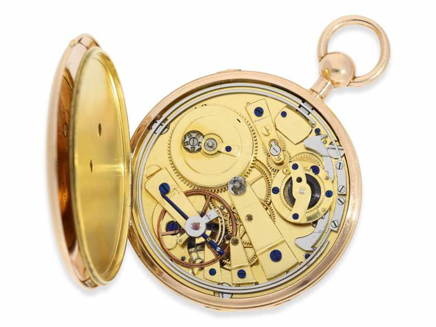 Pocket watch: large, flat Geneva repeater-watch of outstanding quality, ruby cylinder Breguet, Jean-Louis Debrit No. 3007, approx. 1810 - photo 2