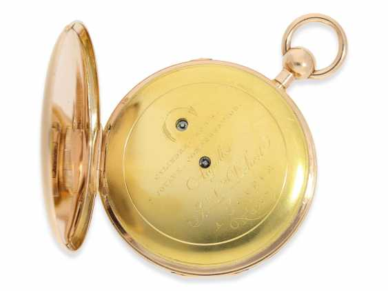 Pocket watch: large, flat Geneva repeater-watch of outstanding quality, ruby cylinder Breguet, Jean-Louis Debrit No. 3007, approx. 1810 - photo 3