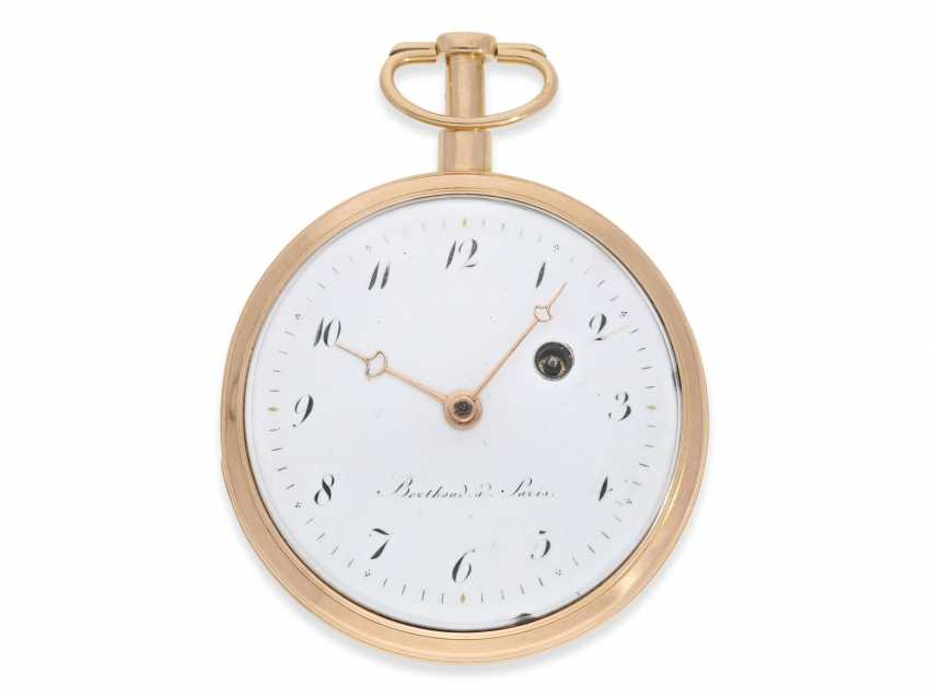 Pocket watch: heavy French blow werksuhr high quality, in 1810, signed Berthoud a Paris, approx. - photo 1