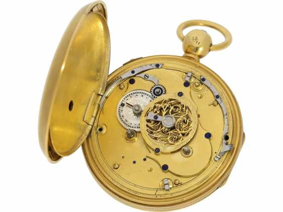 Pocket watch: very fine French clock watch with hour Repetition and half hour strike, Breguet & Fils, No. 6672, CA. 1830 - photo 3