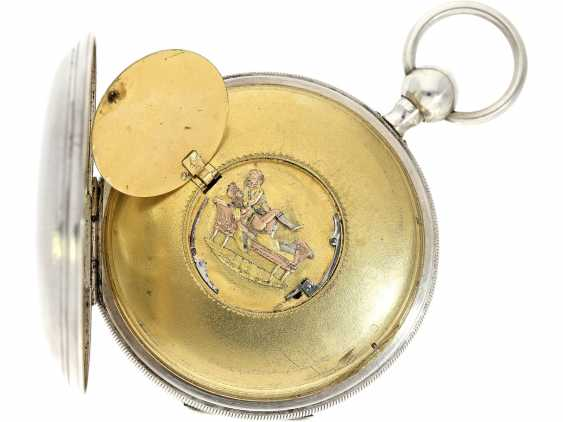 Pocket watch: very well-preserved, very fine French Percussion pocket watch with concealed erotic automaton, CA. 1820 - photo 4