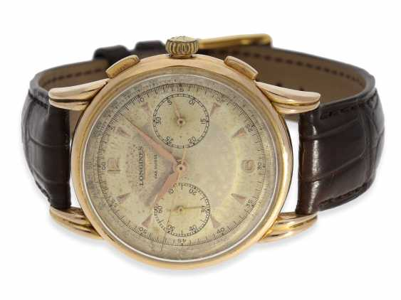 Watch: very rare, large Longines Flyback Chronograph in 18K Gold, approx 1953 - photo 1