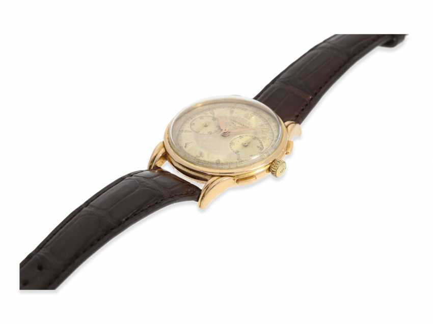 Watch: very rare, large Longines Flyback Chronograph in 18K Gold, approx 1953 - photo 5