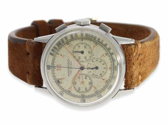 Watch: very rare and large stainless steel Chronograph from Movado, reference 19036, CA. 1955 - photo 1