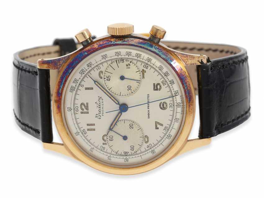 "Armbanduhr: rotgoldener Breitling Chronograph Premier ""Jumbo"" Ref.777, ca. 1948 - photo 1"