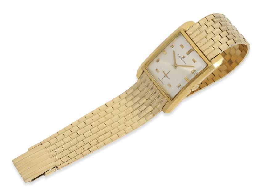 Armbanduhr: vintage Herrenuhr der Marke Zenith, seltenes
