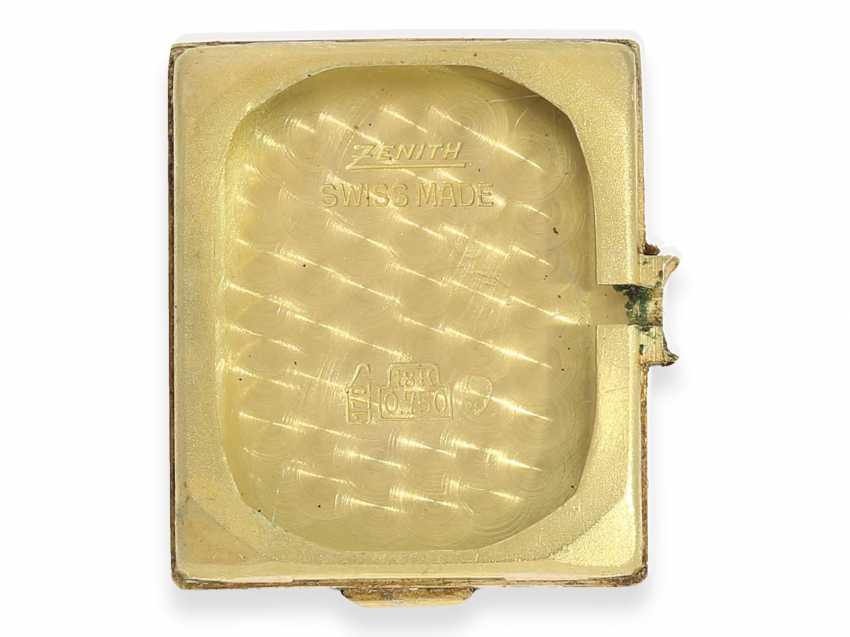 Watch: vintage men's watch brand Zenith, rare gold model, approx 1960 - photo 3