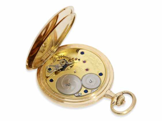 Pocket watch: fine, large, A. Lange & Söhne gold savonnette, No. 86303, with the master excerpt from the book and high-quality Box, CA. 1925 - photo 6