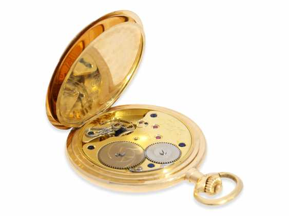 Pocket watch: fine, large, A. Lange & Söhne gold savonnette, No. 86303, with the master excerpt from the book and high-quality Box, CA. 1925 - photo 7