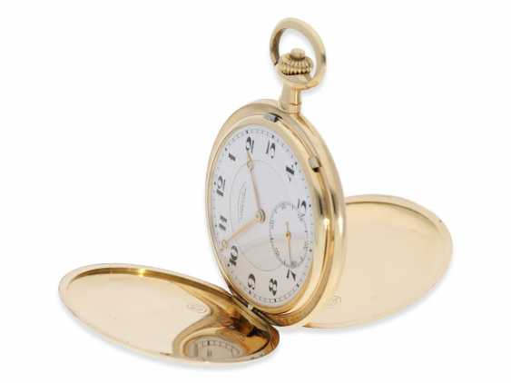 Pocket watch: fine, large, A. Lange & Söhne gold savonnette, No. 86303, with the master excerpt from the book and high-quality Box, CA. 1925 - photo 10