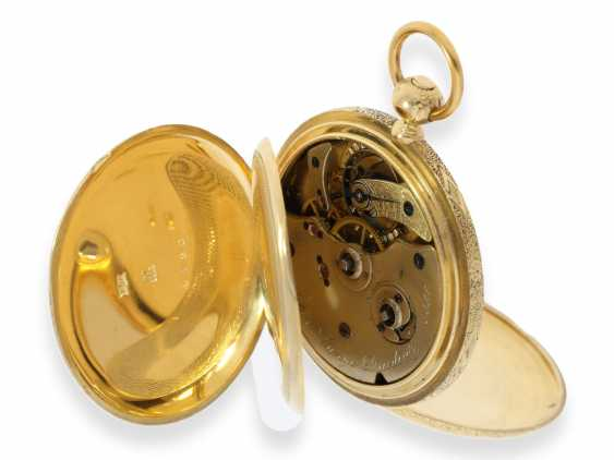 Pocket watch: Lange & Söhne rare, early, early, early Savonnette 1A with key-winding, No. 4490, Dresden 1863 - photo 4