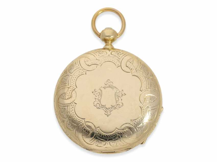 Pocket watch: Lange & Söhne rare, early, early, early Savonnette 1A with key-winding, No. 4490, Dresden 1863 - photo 5