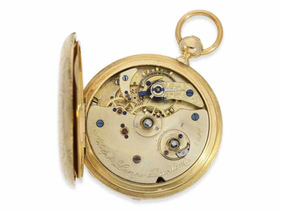 Pocket watch: Lange & Söhne rare, early, early, early Savonnette 1A with key-winding, No. 4490, Dresden 1863 - photo 7