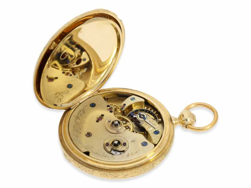 Pocket watch: Lange & Söhne rare, early, early, early Savonnette 1A with key-winding, No. 4490, Dresden 1863 - photo 8