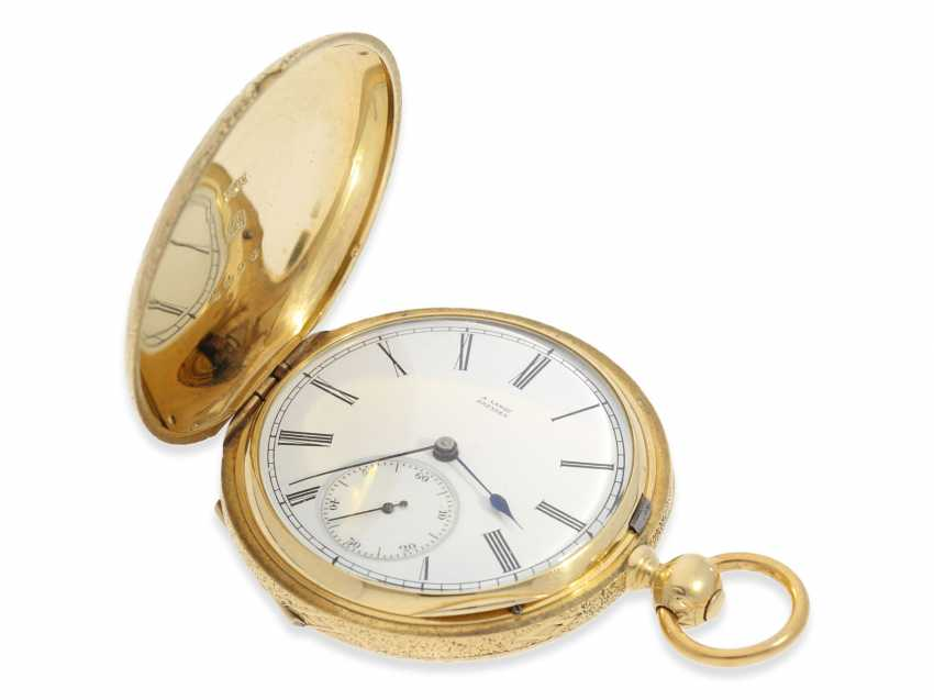 Pocket watch: Lange & Söhne rare, early, early, early Savonnette 1A with key-winding, No. 4490, Dresden 1863 - photo 10