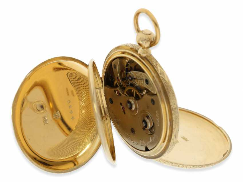 Pocket watch: Lange & Söhne rare, early, early, early Savonnette 1A with key-winding, No. 4490, Dresden 1863 - photo 12