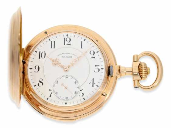 Pocket watch: important and extremely rare glashütte rose gold Savonnette minute repeater in quality 1A, Union Glashütte, No. 54606, CA. 1904 - photo 1
