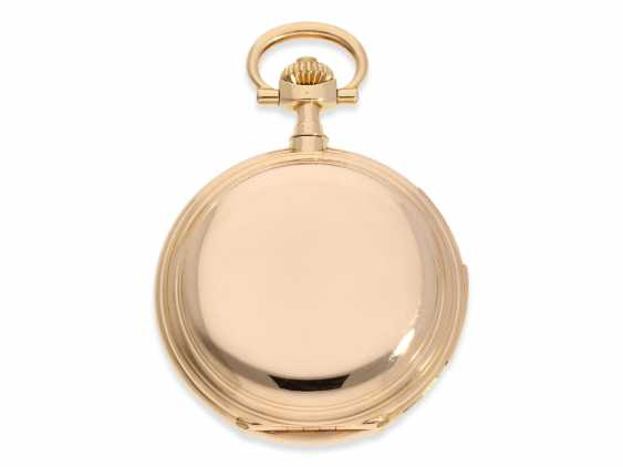 Pocket watch: important and extremely rare glashütte rose gold Savonnette minute repeater in quality 1A, Union Glashütte, No. 54606, CA. 1904 - photo 3