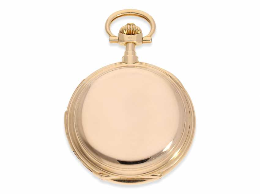 Pocket watch: important and extremely rare glashütte rose gold Savonnette minute repeater in quality 1A, Union Glashütte, No. 54606, CA. 1904 - photo 4