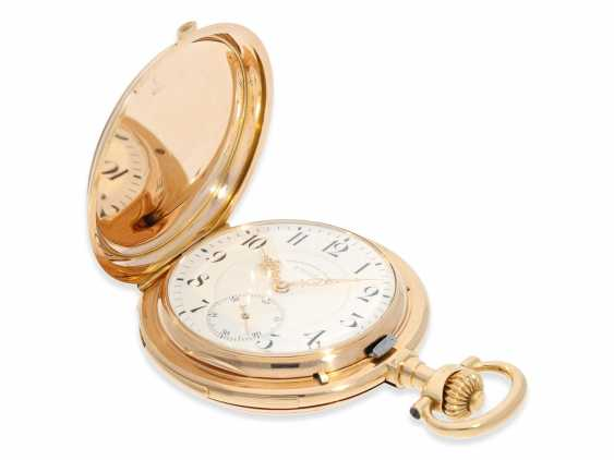 Pocket watch: important and extremely rare glashütte rose gold Savonnette minute repeater in quality 1A, Union Glashütte, No. 54606, CA. 1904 - photo 7