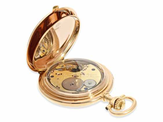 Pocket watch: important and extremely rare glashütte rose gold Savonnette minute repeater in quality 1A, Union Glashütte, No. 54606, CA. 1904 - photo 8
