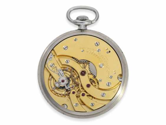 Pocket watch: extremely rare Patek Philippe pocket watch in original steel case, Geneva, 1930, with the master excerpt from the book - photo 3