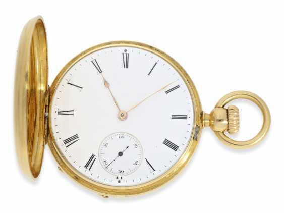 Pocket watch: one of the first Patek Philippe Anker chronometer with crown lift, No. 18438, Geneva, CA. 1860 - photo 1