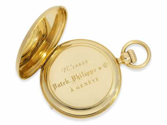Pocket watch: one of the first Patek Philippe Anker chronometer with crown lift, No. 18438, Geneva, CA. 1860 - photo 5