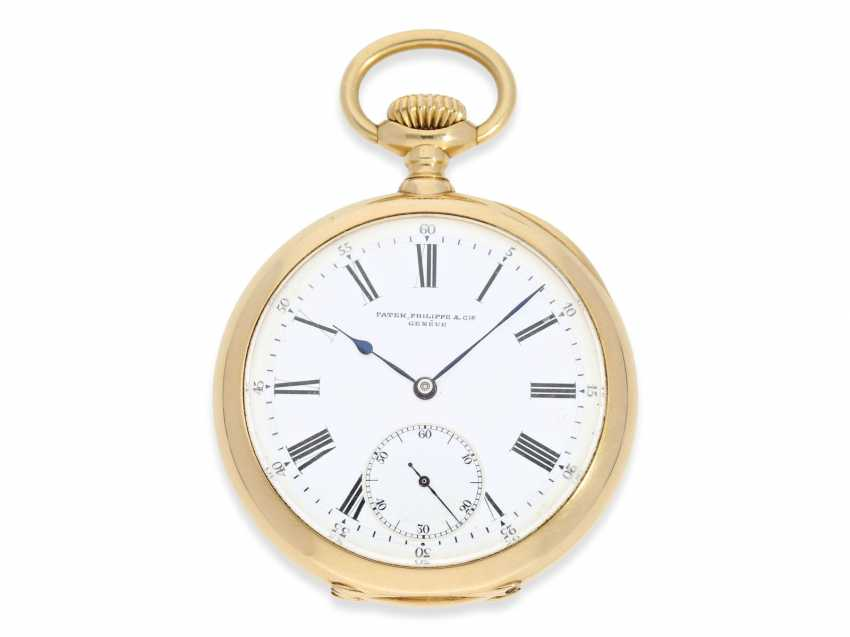 """Pocket watch: very fine, heavy, Patek Philippe Observatory Chronometer 1. Class quality """"EXTRA"""" with excellent test results of the Geneva Observatory, 1901, PP No. 115412 - photo 1"""