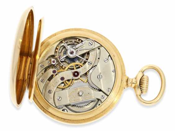 """Pocket watch: very fine, heavy, Patek Philippe Observatory Chronometer 1. Class quality """"EXTRA"""" with excellent test results of the Geneva Observatory, 1901, PP No. 115412 - photo 3"""