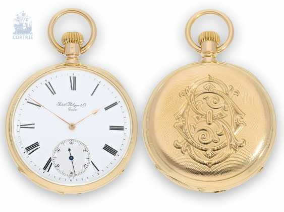 "Pocket watch: early Patek Philippe Anker chronometer in the extremely rare quality ""EXTRA"", No. 71528, CA. 1883 - photo 1"