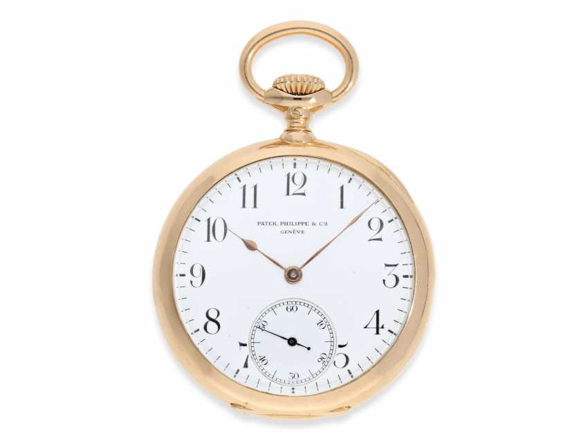 """Pocket watch: very fine Patek Philippe Anker chronometer quality """"EXTRA"""", sold to chronometer maker Rodanet in Paris in 1901 - photo 1"""