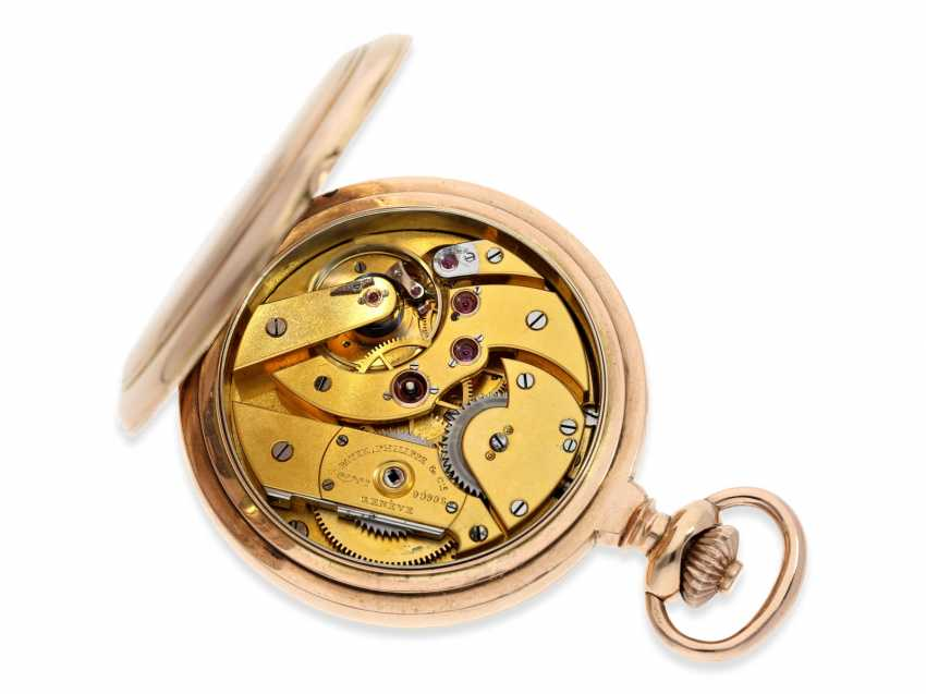 Pocket watch: very heavy Patek Philippe Pocket chronometer No. 90906, probably sold to Russia, CA. 1891 - photo 4